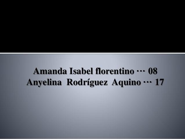 Amanda Isabel florentino ··· 08 Anyelina Rodríguez Aquino ··· 17