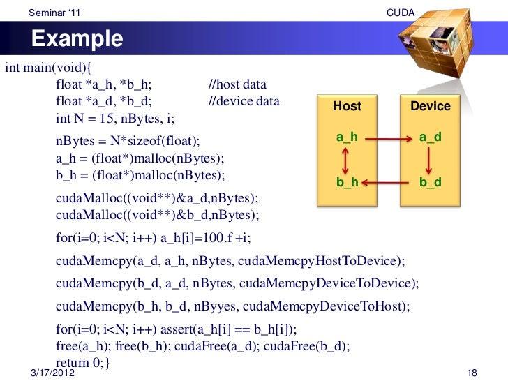 "Seminar ""11                                  CUDA ApplicationsFinance                Numeric         Medical              ..."