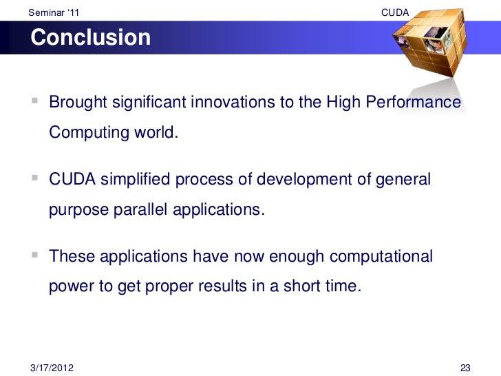 "Seminar ""11                                                       CUDA  References1. ""CUDA by Example: An Introduction to ..."