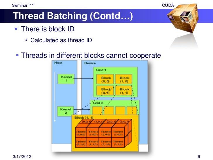 """Seminar """"11                                              CUDATransparent Scalability Hardware is free to schedule thread ..."""