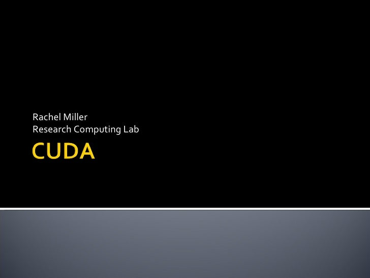 Rachel Miller Research Computing Lab