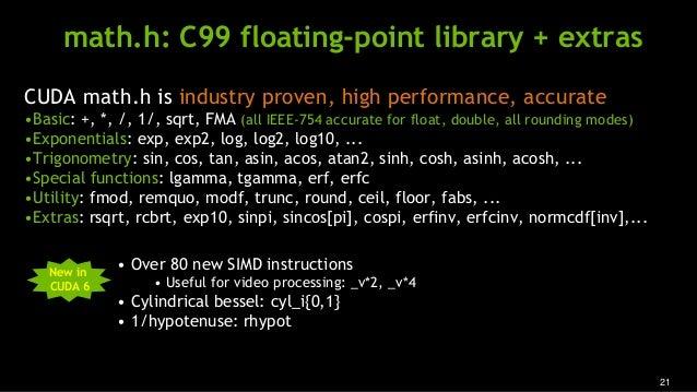 Cuda 6 Performance Report