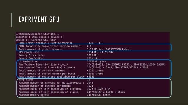 EXPRIMENT GPU