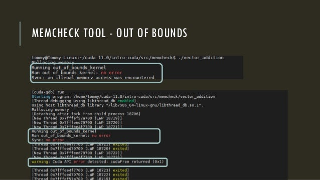 MEMCHECK TOOL - OUT OF BOUNDS