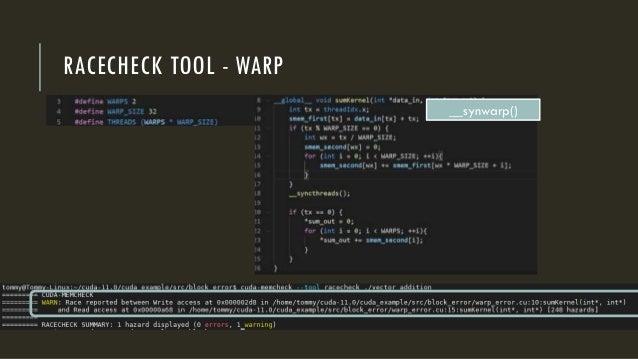 RACECHECK TOOL - WARP __synwarp()