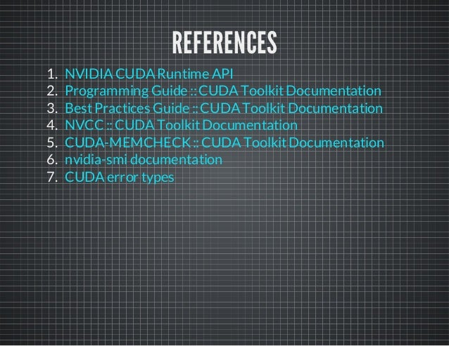 CUDA lab's slides of