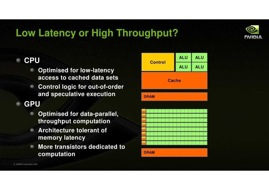 Low Latency or High Throughput?                                                                             ALU   ALU     ...