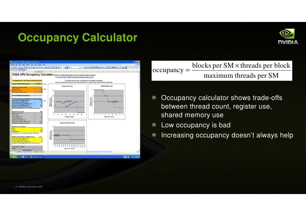 Occupancy Calculator                                          blocks per SM × threads per block                           ...