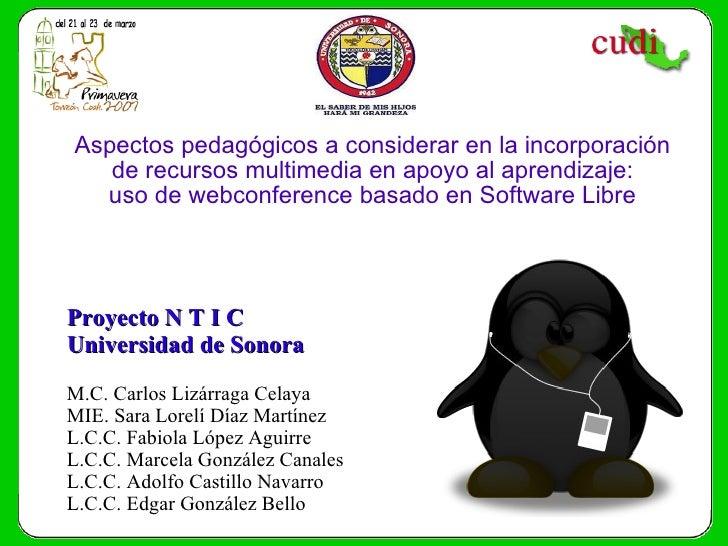Aspectos pedagógicos a considerar en la incorporación de recursos multimedia en apoyo al aprendizaje: uso de webconference...