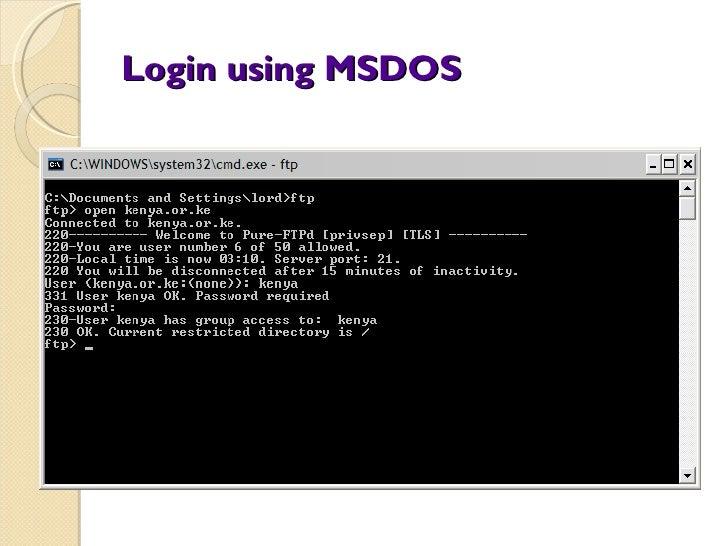 Using an FTP client - Client server computing