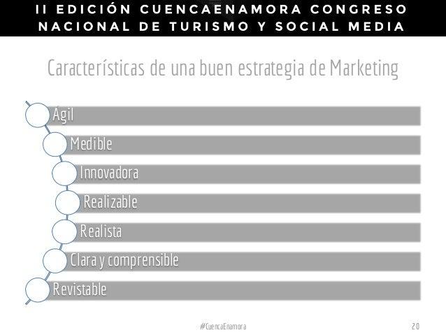 Características de una buen estrategia de Marketing Ágil Medible Innovadora Realizable Realista Clara y comprensible Revis...