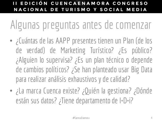 Algunas preguntas antes de comenzar • ¿Cuántas de las AAPP presentes tienen un Plan (de los de verdad) de Marketing Turíst...