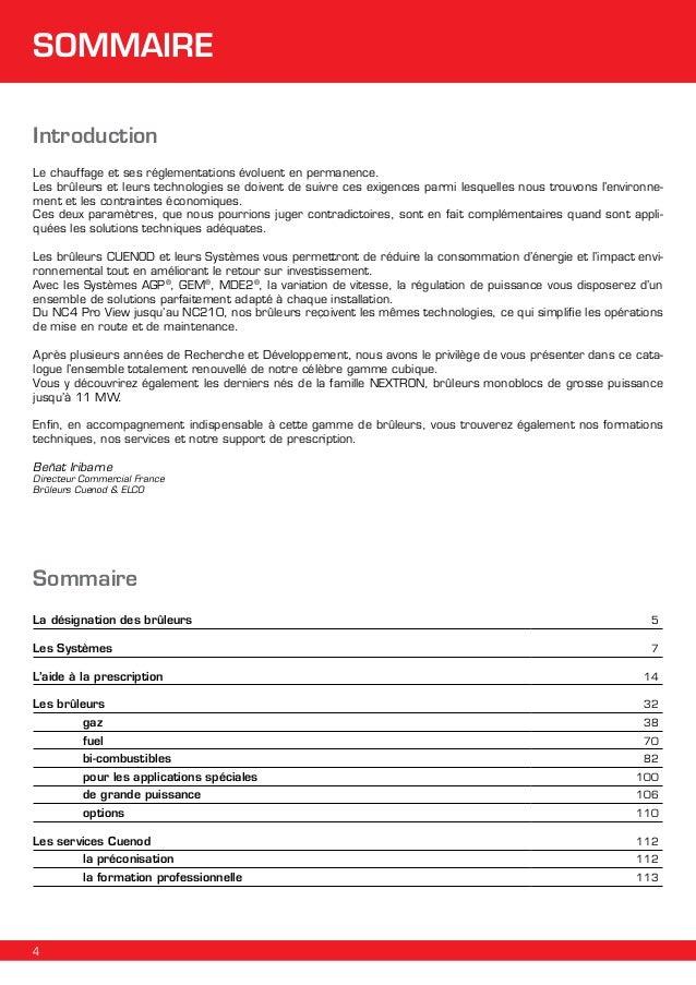 SOMMAIRE Introduction Le chauffage et ses réglementations évoluent en permanence. Les brûleurs et leurs technologies se do...