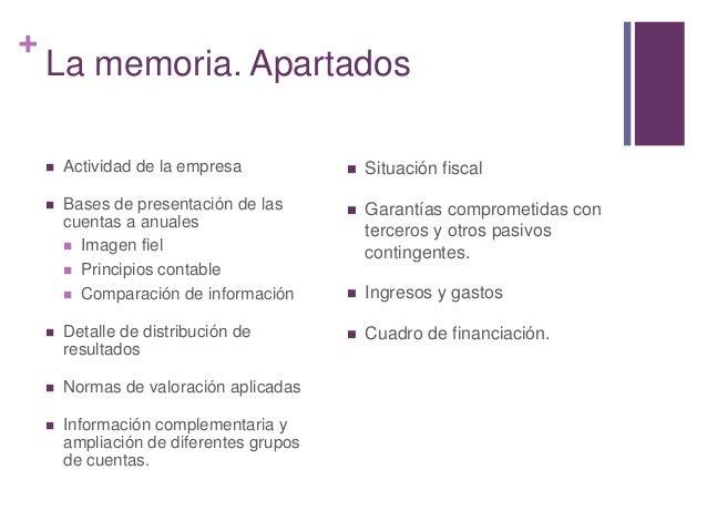 La cuenta de resultados y la memoria en la empresa for Memoria empresa