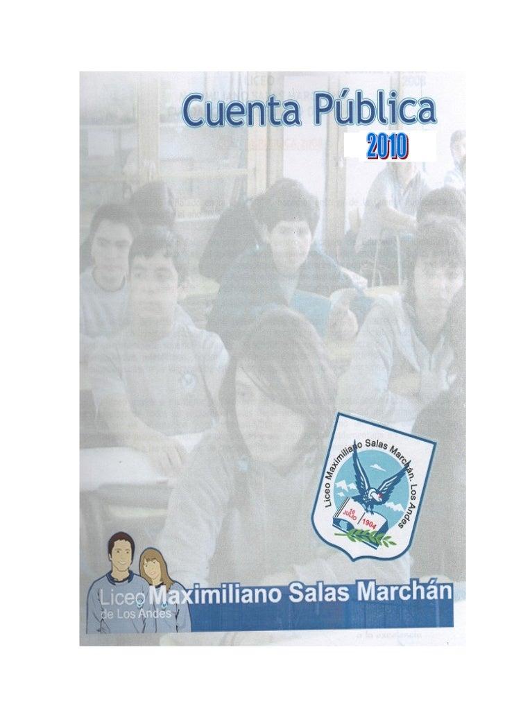 CUENTA PÚBLICA                                                                             2010                           ...