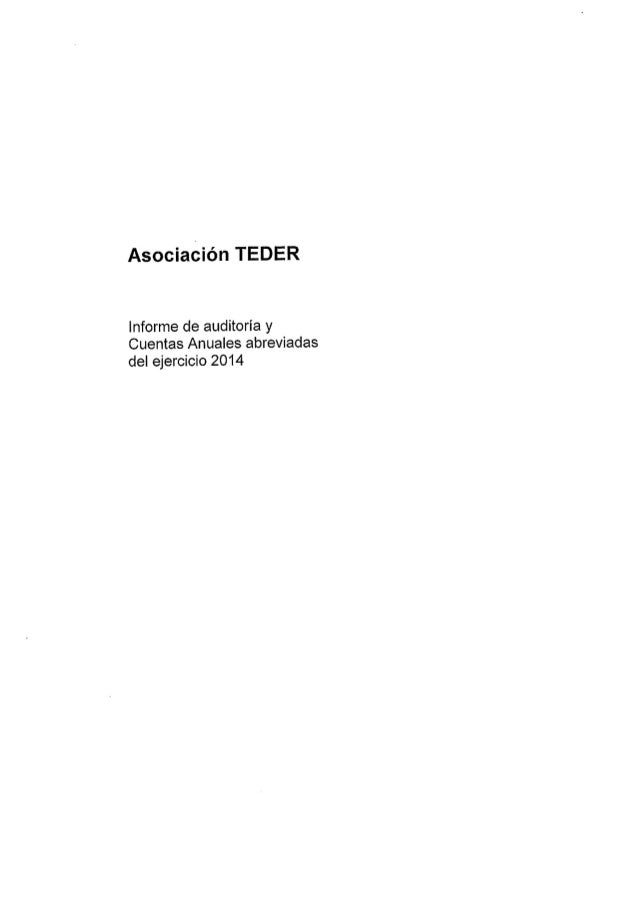 Cuentas anuales-teder-2014