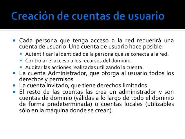 Cuentas de usuario Slide 2