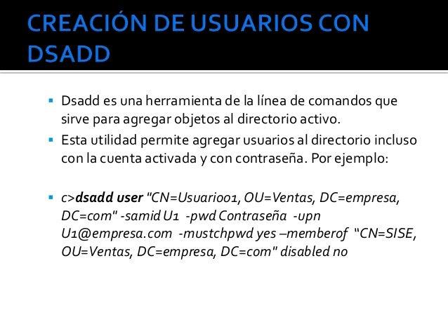 Cuentas de usuario Slide 3