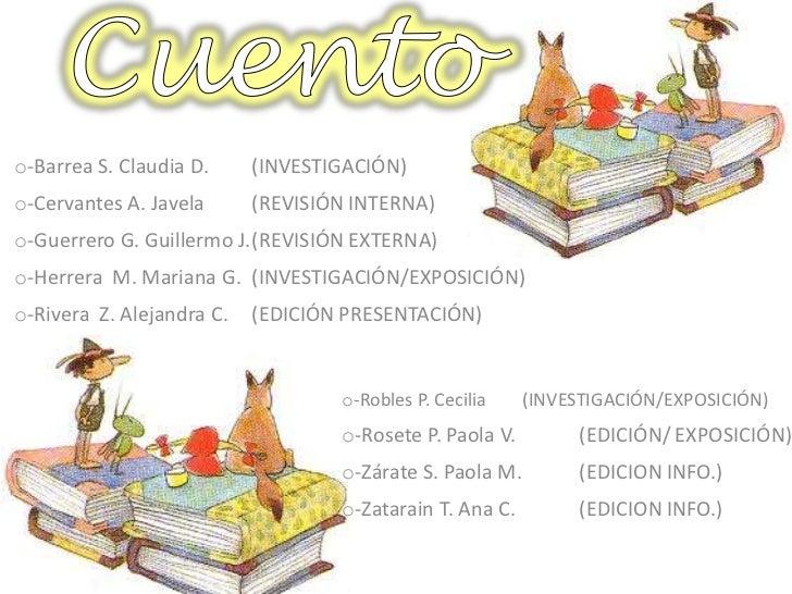 o-Barrea S. Claudia D.     (INVESTIGACIÓN)o-Cervantes A. Javela      (REVISIÓN INTERNA)o-Guerrero G. Guillermo J.(REVISIÓN...
