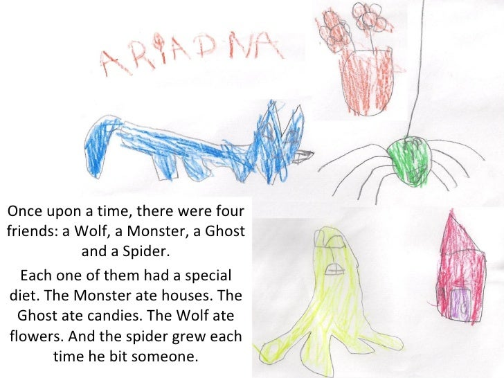 Once upon a time, there were fourfriends: a Wolf, a Monster, a Ghost            and a Spider.   Each one of them had a spe...