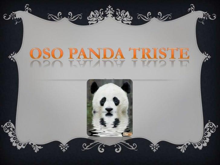 Oso Panda Triste<br />
