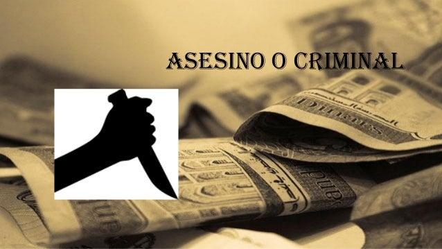 asesino o criminal