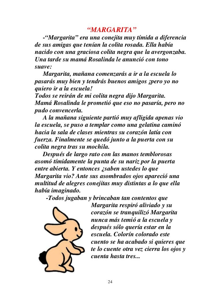 """""""MARGARITA""""    -""""Margarita"""" era una conejita muy tímida a diferenciade sus amigas que tenían la colita rosada. Ella habían..."""