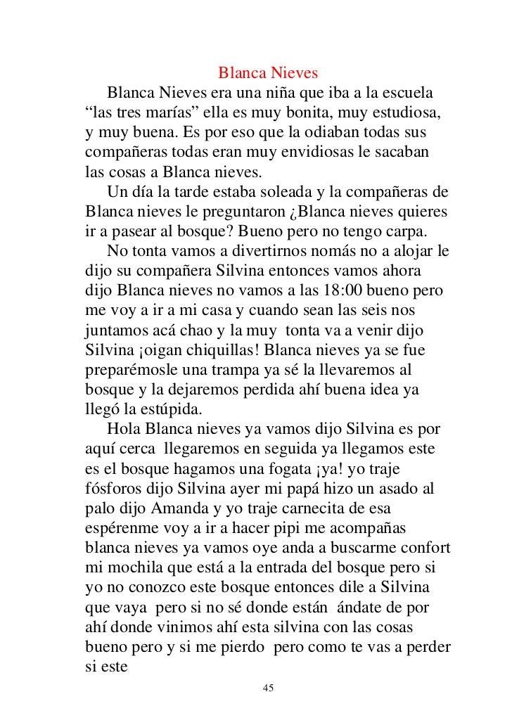 """Blanca Nieves    Blanca Nieves era una niña que iba a la escuela""""las tres marías"""" ella es muy bonita, muy estudiosa,y muy ..."""