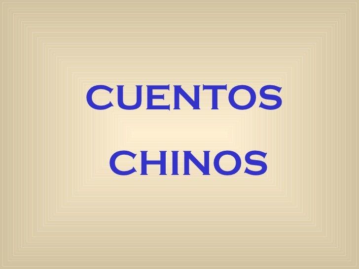 CUENTOSCHINOS