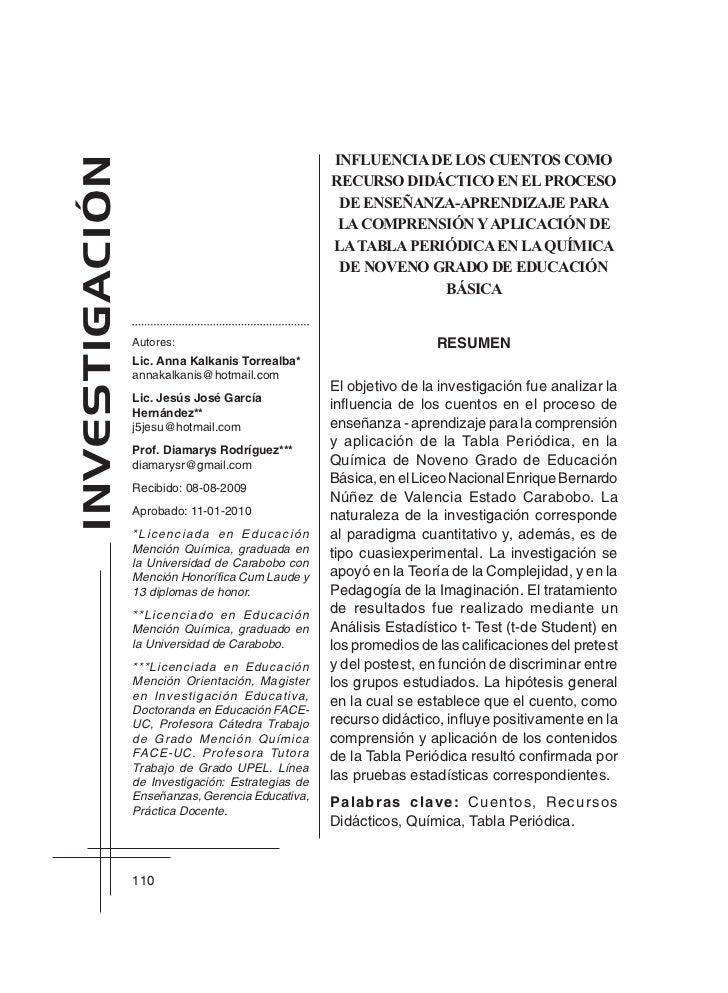 Cuentos con la tabla periodica cuentos con la tabla periodica influencia de los cuentos comoinvestigacin urtaz Choice Image