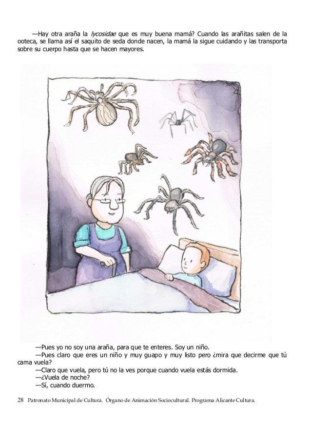 —Hay otra araña la lycosidae que es muy buena mamá? Cuando las arañitas salen de la ooteca, se llama así el saquito de sed...