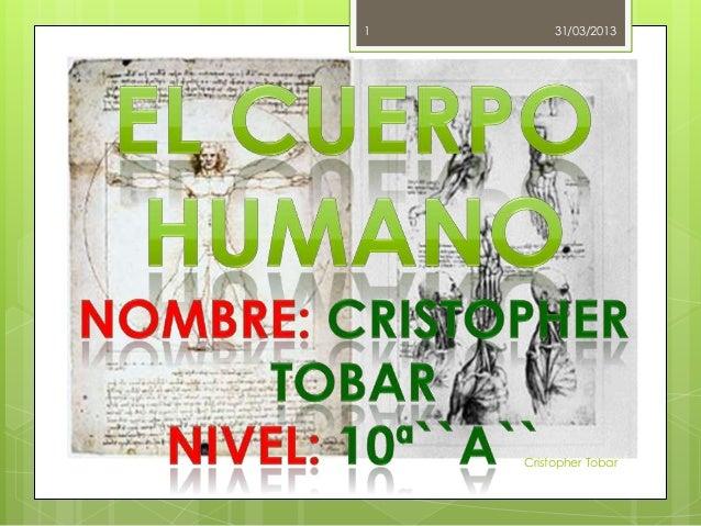 1        31/03/2013    Cristopher Tobar
