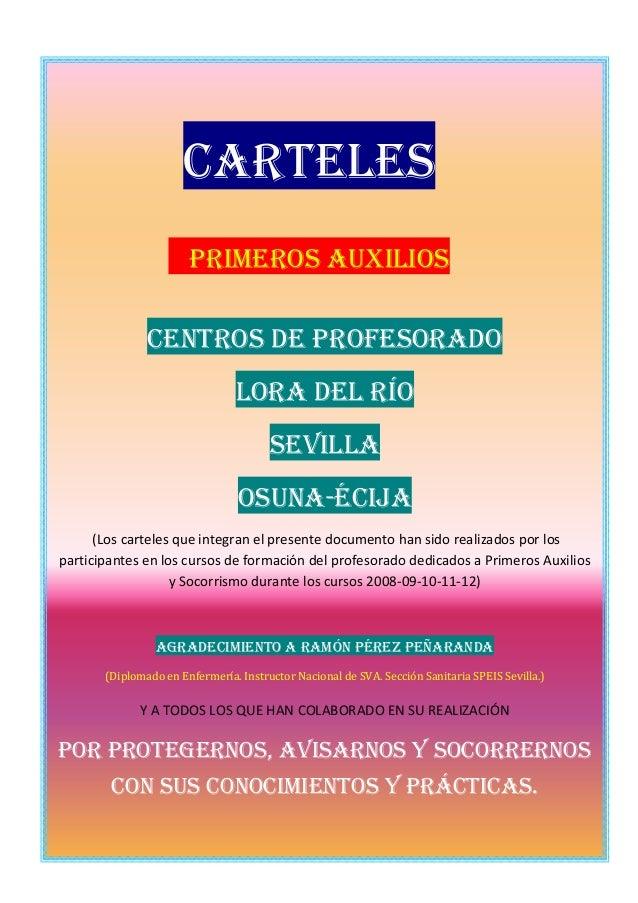 Carteles                       Primeros Auxilios               Centros de Profesorado                                Lora ...