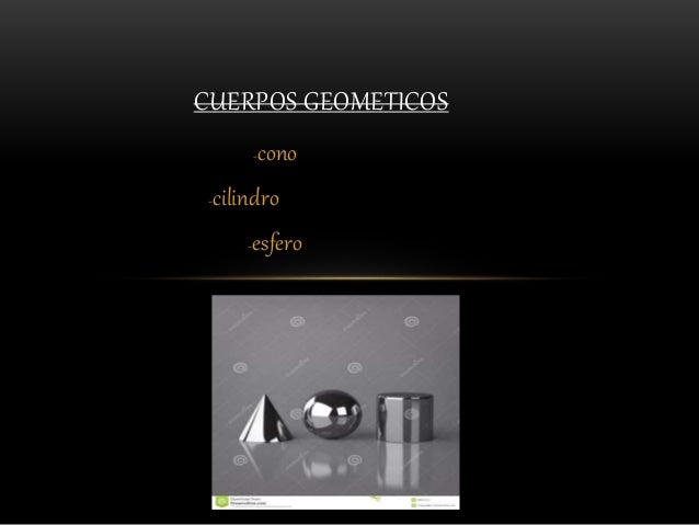 -cono -cilindro -esfero CUERPOS GEOMETICOS