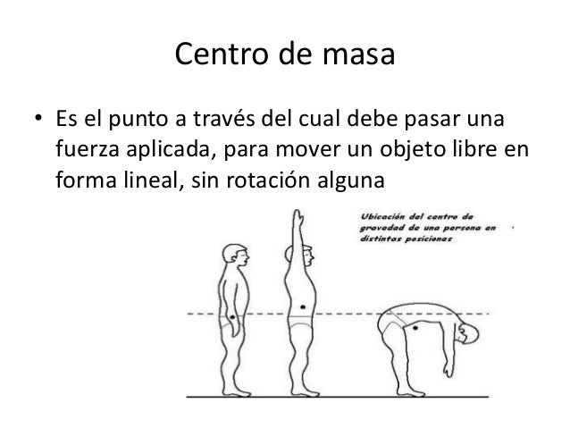 Centro de masa • Es el punto a través del cual debe pasar una fuerza aplicada, para mover un objeto libre en forma lineal,...