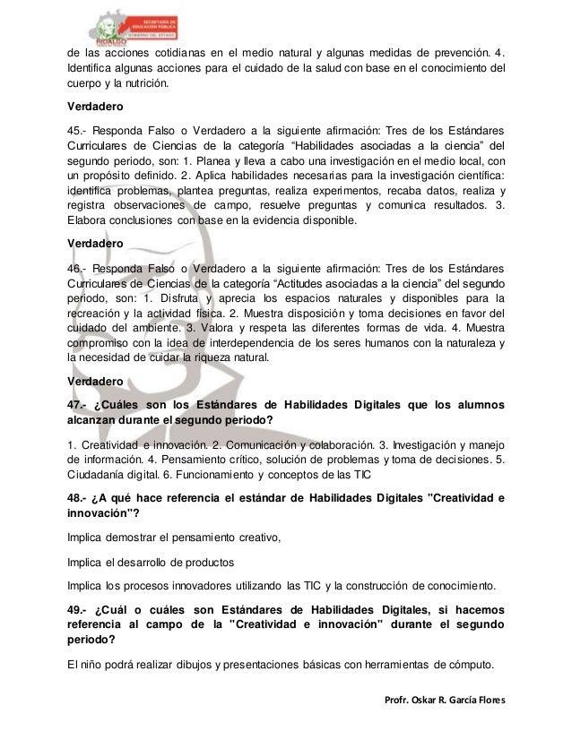 Profr. Oskar R. García Flores de las acciones cotidianas en el medio natural y algunas medidas de prevención. 4. Identific...