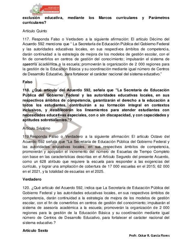 Profr. Oskar R. García Flores exclusión educativa, mediante los Marcos curriculares y Parámetros curriculares? Artículo Qu...