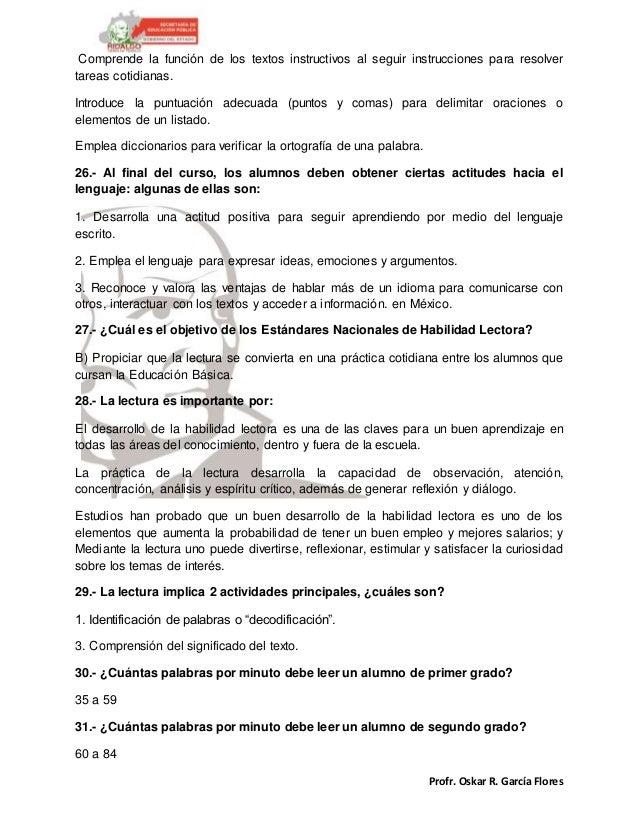 Profr. Oskar R. García Flores Comprende la función de los textos instructivos al seguir instrucciones para resolver tareas...