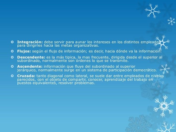  Integración: debe servir para aunar los intereses en los distintos empleados  para dirigirles hacia las metas organizati...