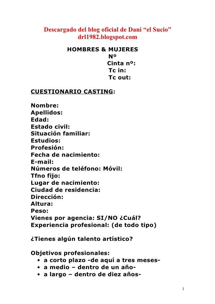 """Descargado del blog oficial de Dani """"el Sucio""""                drl1982.blogspot.com             HOMBRES & MUJERES          ..."""