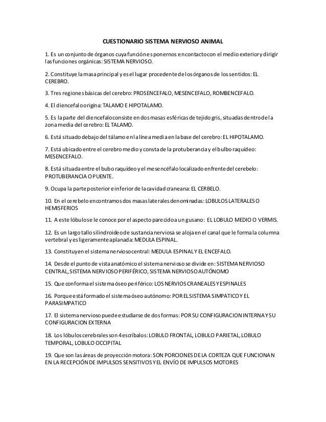 Excepcional Cuestionarios Anatomía Bosquejo - Anatomía de Las ...