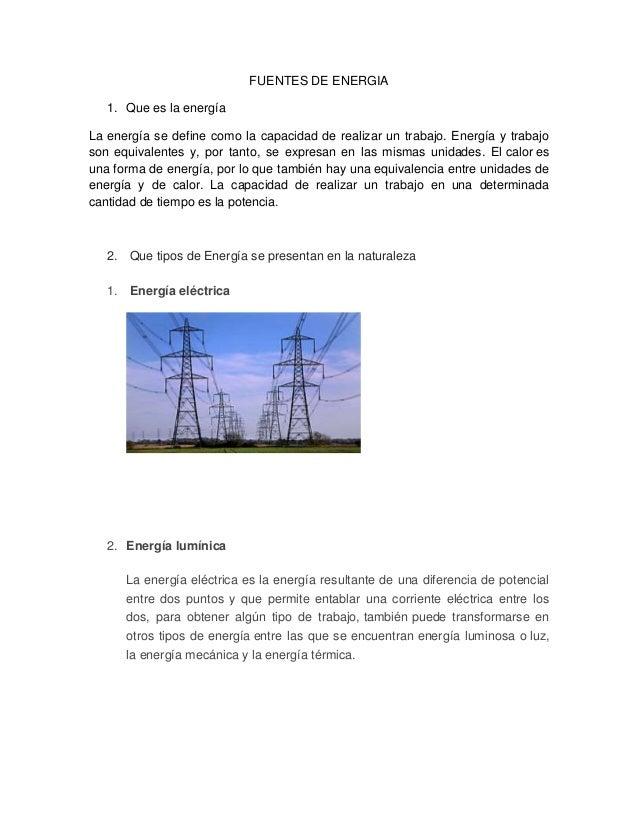 Cuestionario De Energia