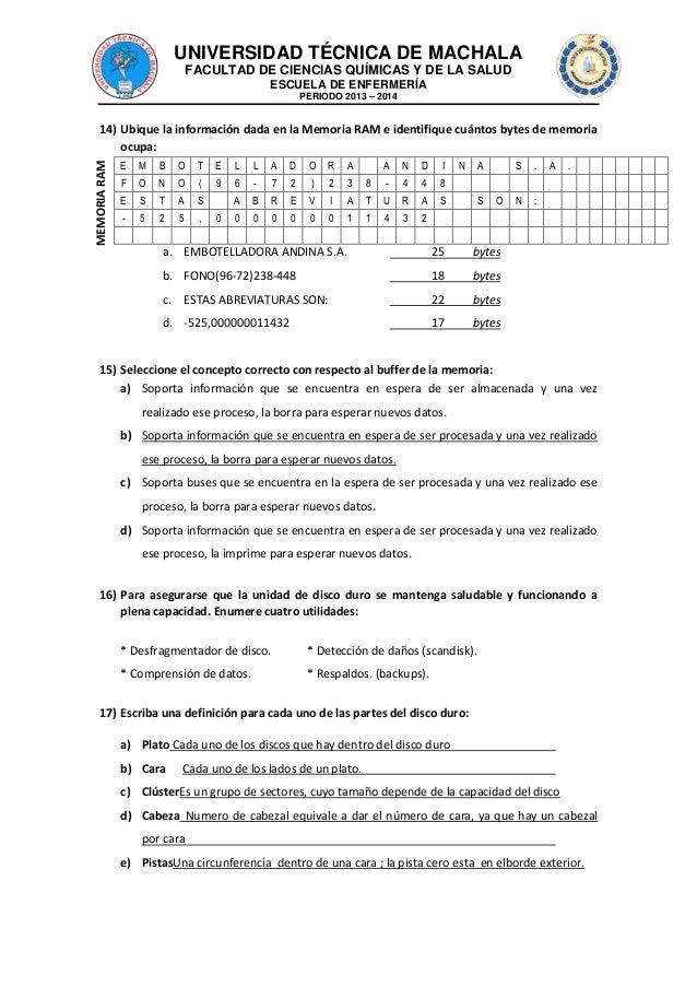 UNIVERSIDAD TÉCNICA DE MACHALA FACULTAD DE CIENCIAS QUÍMICAS Y DE LA SALUD ESCUELA DE ENFERMERÍA PERIODO 2013 – 2014  MEMO...