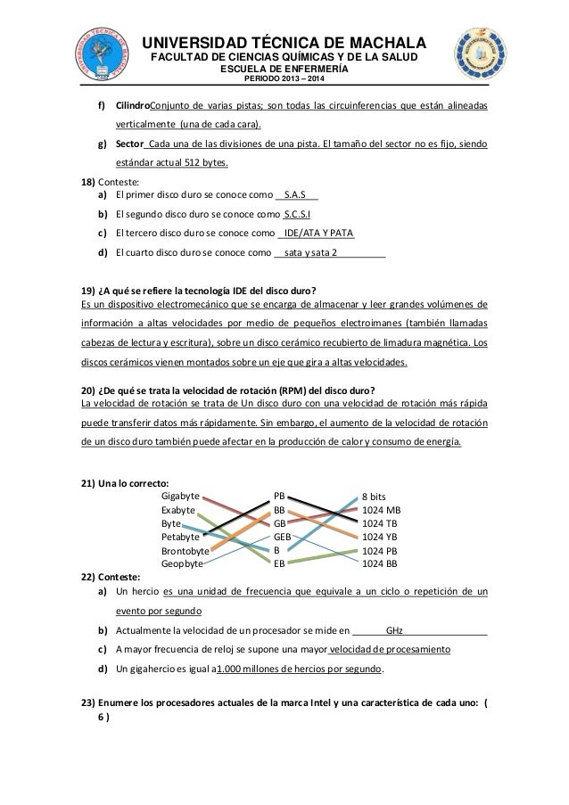 UNIVERSIDAD TÉCNICA DE MACHALA FACULTAD DE CIENCIAS QUÍMICAS Y DE LA SALUD ESCUELA DE ENFERMERÍA PERIODO 2013 – 2014  f)  ...