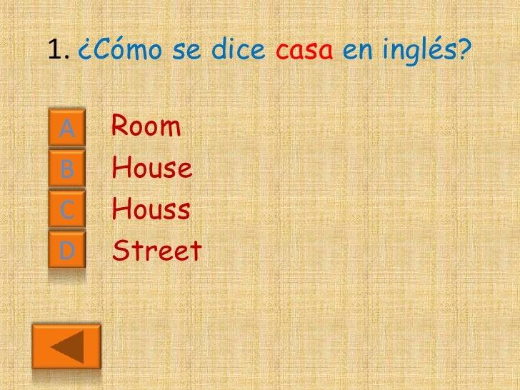 Cuestionario de ingl s - Habitacion en ingles como se escribe ...