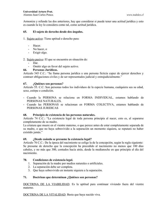 Universidad Arturo Prat. Alumno Juan Carlos Ponce. www.todolex.cl Armoniza y refunde las dos anteriores, hay que considera...
