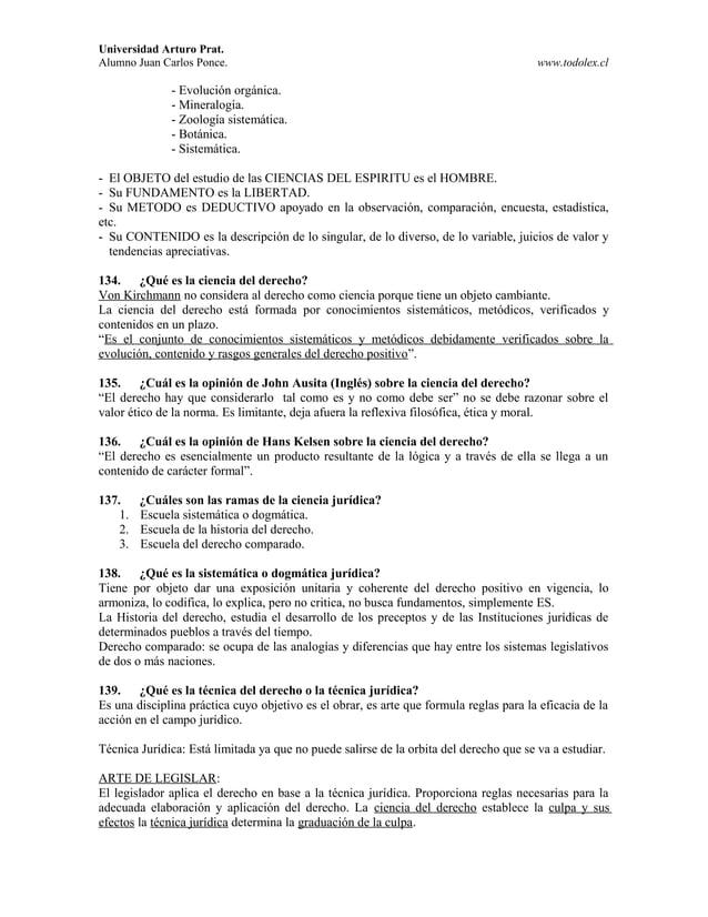 Universidad Arturo Prat. Alumno Juan Carlos Ponce. www.todolex.cl - Evolución orgánica. - Mineralogía. - Zoología sistemát...