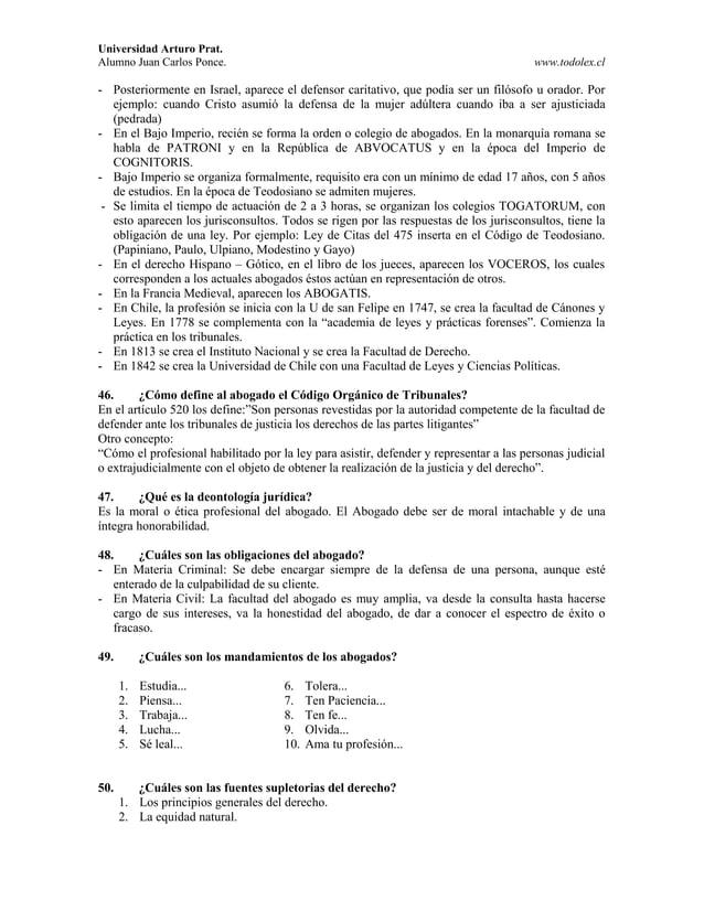 Universidad Arturo Prat. Alumno Juan Carlos Ponce. www.todolex.cl - Posteriormente en Israel, aparece el defensor caritati...