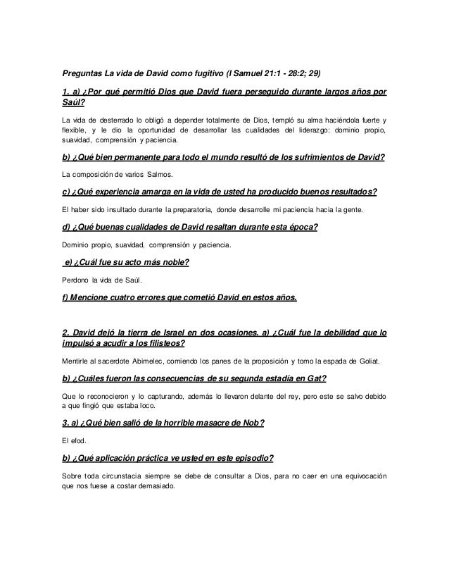Cuestionario De Samuel