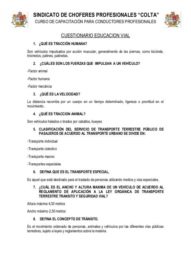 Cuestionario Educacion Via Le V